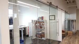 amazing home appealing glass barn door of doors sliding for the office glass barn door