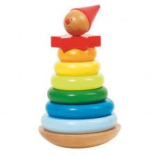 <b>Деревянная</b> пирамидка <b>Клоун Goki</b> GKI57961 купить в Москве с ...