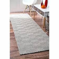nuloom grey wool cotton handmade concentric diamond trellis runner rug 2 6 x