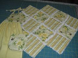 for the kitchen towel and coaster set you will need approx 1 3 yard each of top and backing fabric about 1 4 yard of fusible fleece 1 kitchen towel or