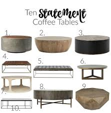 the forest modern first look at our hearth room ten statement coffee tables