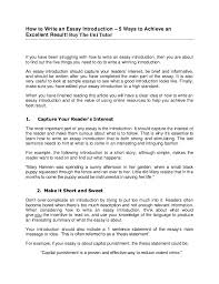 how to write introduction for essay guide to writing a basic essay tripod com