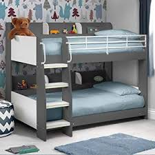 kids bunk beds with storage. Simple Beds Happy Beds Domino Grey Wooden And Metal Kids Bunk Bed With Storage Shelves  2x Memory Inside With E