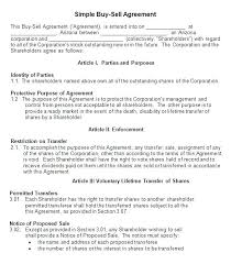 Sale Agreement Forms Buy Sell Agreement Template Free Naveshop Co