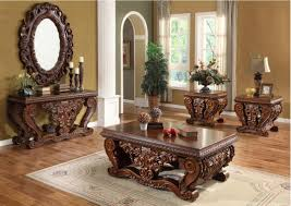 Beautiful Traditional Round Coffee Table Formal Living Room Furniture Square Purple Leather Tufted Bean