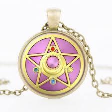 sailor moon anime pendant necklace organza gift bag