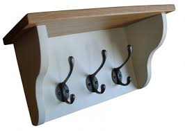 shelved wall coat hook