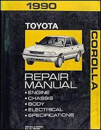 1990 toyota corolla wiring diagram manual original 1990 toyota corolla repair shop manual original