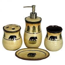 bear bathroom set