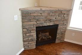 electric fireplace corner stone ideas