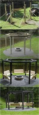 Fire Pit Swing Backyard Fire Pit With Swing Seats