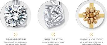 select one of our handpicked diamonds and a setting of your choice to create the pendant of your dreams