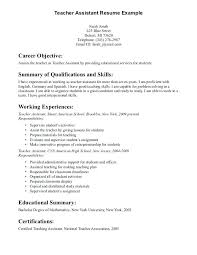 Objective Resume Samples Educational Assistant Resume Teaching Assistant Resume Sample 38