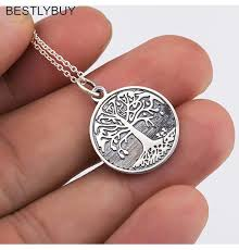 bestly tree of life large pendant necklace jewelry 925 sterling silver necklaces pendants for women best gift hbln3852