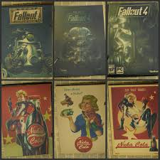 fallout 3 4 game poster home furnishing decoration kraft game poster drawing core wall stickers decorative