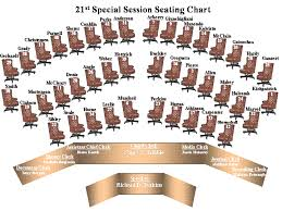 Senate Floor Seating Chart 21st Special Session General Information