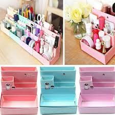 Decorative office supplies Organizing Diy Paper Board Storage Box Desk Decor Stationery Makeup Cosmetic Organizer New Pen Holders School Office Supplies Dropwow Dropwow Diy Paper Board Storage Box Desk Decor Stationery Makeup