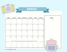 August Theme Calendar Free Printable August 2018 Calendar 12 Awesome Designs