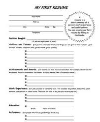 My First Resume Template Best Of Blank Resume Template For High School Students Httpwww