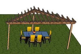 free standing pergola design this simple deck plan