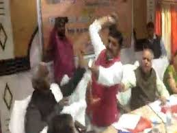 Up Bjp Mp Thrashes Party Mla With A Shoe After An Argument Watch