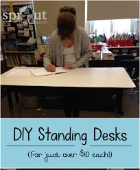i am the proud new owner of a standing desk this is something i ve wanted for ever i have seen every year students who just want to stand by their desk