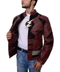 justice league flash ezra miller armored style jacket