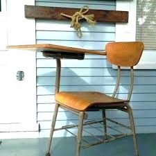 wooden school desk and chair. Wood School Desk And Metal Office Chair Vintage  . Wooden