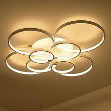 elegant modern ceiling chandelier modern super thin circel rings led ceiling chandelier lamp living