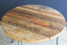 reclaimed wood round coffee table fence ideas