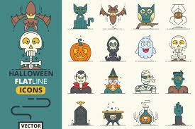 612 inspirational designs, illustrations, and graphic elements from the world's best designers. Halloween Flat Line Icons Vol 1 3810 Icons Design Bundles Line Icon Icon Design Halloween Fonts