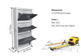 shoe shelf dimensions standard height