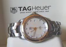 mens tag heuer diamond watch tag heuer link 18k gold ss diamond dial mens watch wjf1153