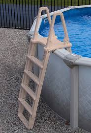 Image Stainless Steel Above Ground Pool Ladder Click To Enlarge Halogen Supply New Evolution Aframe Above Ground Pool Ladder Halogen Supply