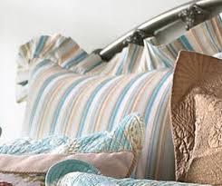 Natural Shells Bedding | OceanStyles.com & Aqua & Tan Stripes Euro Sham Adamdwight.com