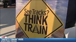 "Wendi rides the ""Safety Train"" 