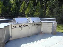 Stainless Steel Outdoor Kitchen Stainless Steel Outdoor Countertops Brooks Custom
