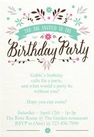 Print Birthday Invitation Flat Floral Birthday Invitation Template Free Free