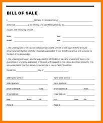 bill of sale 10 bill of sale as is aplication format