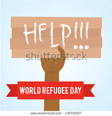 campaign poster templates free world refugee day campaign poster refugee stock vector hd royalty