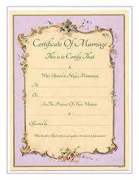 Wedding Certificate Template Custom Keepsake Marriage Certificate Free Printable Vintage French