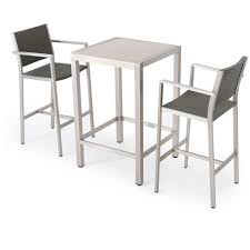 target patio bar set. Unique Patio Cape Coral 3pc AllWeather WickerMetal Patio Bar Set  Gray Christopher  Knight Home For Target I
