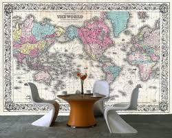 self adhesive ancient old world map decorating photo wall