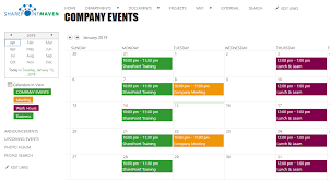 Interactive Calendar Template A Review Of All The Calendar Options In Sharepoint And