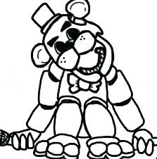 Five Nights At Freddy Coloring Pages Inspirational Golden Freddy