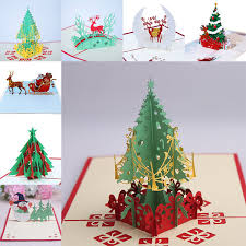 9 Design Christmas Card 3d Pop Up Greeting Card Christmas Tree Bell Party Invitations Paper Card Personalized Keepsakes Postcards Wx9 130 Birthday