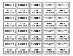 Numbered Ticket Template Best Printable Numbered Tickets Best Resume