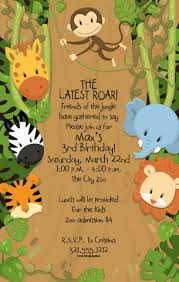 Jungle Theme Birthday Invitations Around The Jungle Party Invitations By Paper So Pretty