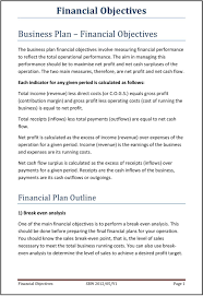 How To Prepare Break Even Chart Financial Objectives Pdf