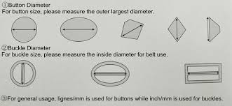 How To Calculate Button Size By Ligne Decorative Zips And